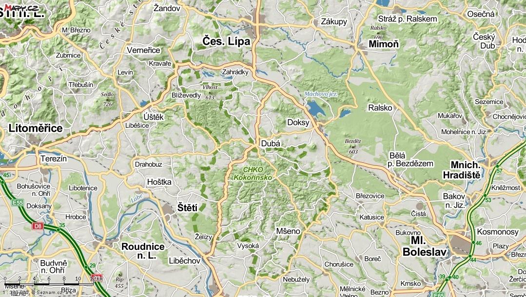 Machuv kraj mapa